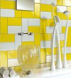 Weiß 3X6inch/7.5X15cm glasierte keramische Wand-Untergrundbahn-Fliese-Badezimmer-/Küche-Dekoration