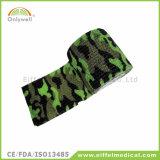 Het niet-geweven Verband van de Sport van de Camouflage Medische Zelfklevende Samenhangende