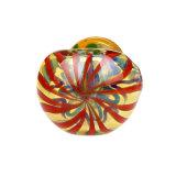 Pipa de vidrio ámbar del tubo de vidrio de la mano de la banda del tubo de vidrio colorido cuchara