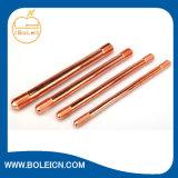 Kupferne Bondmasse Rod mit einem gezeigt und ein Flatted