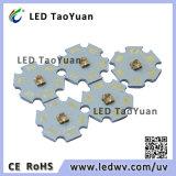 diodo emissor de luz UV do poder superior de 3W 395nm