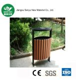 Ningún cubo de basura al aire libre compuesto plástico de madera de la descomposición