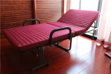 Кровать гостиницы складная экстренная с толщиными тюфяком и подлокотником