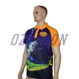 На заводе бесплатный дизайн пользовательских высокое качество Sublimated мужской рубашки поло
