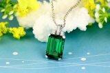 方法ネックレスの宝石類925の銀製の最高時のエメラルドの吊り下げ式の宝石類