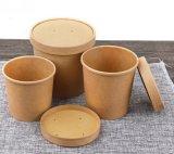 使い捨て可能なブラウンの食品包装の容器のクラフト紙はスープコップを取る
