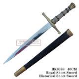 ヨーロッパの短剣の手動模造ヨーロッパの騎士短剣の歴史的短剣40cm
