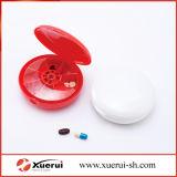 Organizador do comprimido, caixa Shaped redonda médica plástica do comprimido