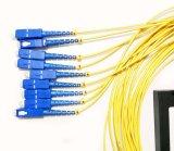 Оптоволоконный PLC 1X8 пластиковые окна разветвитель для проводных и беспроводных сетей и приложений, систем видеонаблюдения