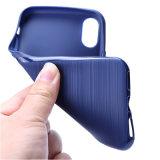 탄소 섬유 Samsung J730를 위한 연약한 TPU 철사 그림 전화 상자