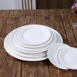 Placa cerâmica China Restaurante grossista placas jantar redonda Branca Placas de hotel