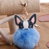 Sfera Keychain della pelliccia del coniglio del Faux per fascino del sacchetto