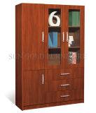 Дешевые деревянные конструкции для установки в стойку книги современный офис шкаф (SZ-КГФ606)