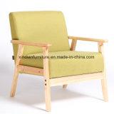 Cadeira de madeira de aço do Nordic da tela do metal do lazer