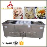 A Tailândia estilo frito Pan Plano Simples comerciais sorvete máquina de rolo