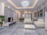 Banheiro Muro Branco brilhante texturizado de design e piso de cerâmica
