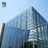 Sistema de aluminio visible de cristal reflexivo constructivo de la pared de cortina de la fachada que enmarca exterior con el panel de aluminio