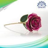Chapado en lámina rosa flor de la decoración de bodas regalo de San Valentín los amantes de la rosa flor artificial