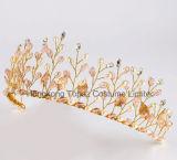 수정같은 진주 결혼식 Tiara 크라운 모조 다이아몬드 머리띠 머리 보석 신부 머리 부속품 금 맨 위 피스 Hairbands (EH01)