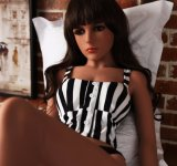 Sapm96Aの生命によって大きさで分類されるシリコーンの性の人形の金属の骨組実質の感じ愛人形
