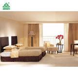 黒檀の現代双生児-ベッドが付いている木の終了するホテルの寝室の家具