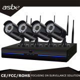4 jogo sem fio da câmera NVR do CCTV do sistema de segurança IP da canaleta 960p
