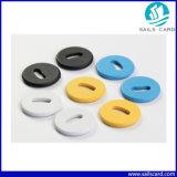 円形RFID Bttonuの洗濯の札