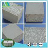 Material de construção composto da placa da parede do cimento do sanduíche da instalação fácil térmica