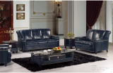 Sofà del salone con l'insieme moderno del sofà del cuoio genuino