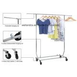Ajustável de Serviço Pesado recolhível peça de metal cromado Rack para pendurar roupas