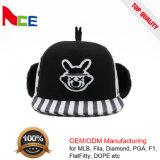 冬のEarflapsの卸売のための標準的な急な回復の大きさの平野の急な回復の帽子
