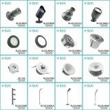 Küche-Schrank-Aluminiumlicht des runden Splitter-1W modernes