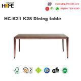 食堂の家具(HC-K21 K28)の元の純木のダイニングテーブル