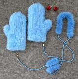 Natürliche Form-Handschuhe der Lamm-Pelz-Handschuh-Baby-Sahne-Cems0000109/Winter