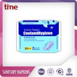 Guardanapo sanitário fêmea macio e confortável do produto do cuidado pessoal de almofada sanitária