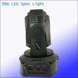 90W 단계 디스코 백색 반점 LED 이동하는 맨 위 빛