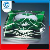Clearwhite Cinzeiro de vidro cristal de tamanho personalizado