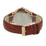 Montre-bracelet en bois de face de mode d'hommes de logo fait sur commande en acier en gros de montre