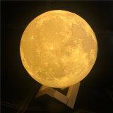 Impresión 3D LED Sensor táctil Noche de luna de la luz de luna
