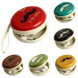 Couleur matérielle de transport d'EVA Brown de mémoire de poche de mini de tirette de cadre de mémoire de sac d'écouteurs d'écouteur d'écouteur de carte SD cadre de sac