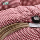 寝室の綿の小切手の安い価格のホーム羽毛布団カバー