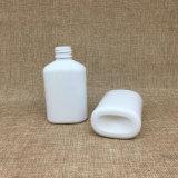 150ml vacian la botella plástica oval 5oz de la loción de la bomba del animal doméstico blanco