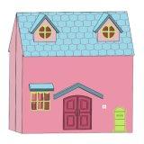 Casa de Muñecas plegable de madera juguete
