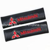 De Koolstof van de Veiligheidsgordel van het Embleem van de auto Behandelt Schouderopvulsels voor Mitsubishi