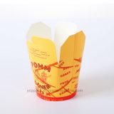 Acondicionamiento de los alimentos de papel disponible de encargo del rectángulo de las pastas del espagueti