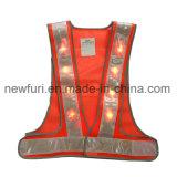 Maglia infiammante impermeabile di visibilità della maglia riflettente del LED alta