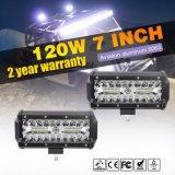 Tre indicatore luminoso del lavoro della barra chiara 120W 7inch 12V LED di riga LED