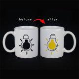 Cambiando de color taza con etiquetas personalizadas con caja de regalo