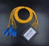 Gpon 원거리 통신에 의하여 착색되는 섬유 1X8 PLC 쪼개는 도구 시스템