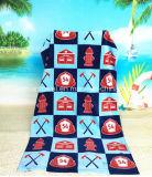 L'impression réactive personnalisé 100% coton Serviette de plage